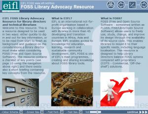 EIFL FOSS Library Advocacy Resource screenshot