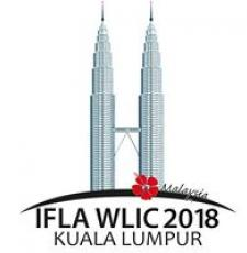 IFLA WLIC 2018 logo - skyscrapers with words IFLA WLIC