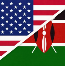 USA and Kenya flags