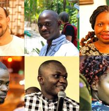 The IYALI 2018 scholarship winners: Top row, from left, Mostafa Tuhami (Egypt), Koi Kazungu (Kenya), Letshani Ndlovu (Zimbabwe). Bottom row, from left, Harouna Ahmadou Saliou Yerima (Cameroon), Momoh Mansaray (Sierra Leone) and Joan Njogu (Kenya).