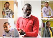 The five innovative librarians: clockwise, from top left, Momoh Mansaray (Sierra Leone), Allan Hagwelele (Zambia), Yusuf Ganyana Juma (Kenya), Jemmimah Wangechi Maragwa (Kenya) and Mostafa Mahammad Tuhami (Egypt).