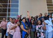 Group photo of the Namibian public librarians selected to be trainers within the Namibia Library and Archives Service network of 65 public libraries.