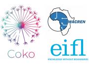 Logos of Wacren, Coko and EIFL