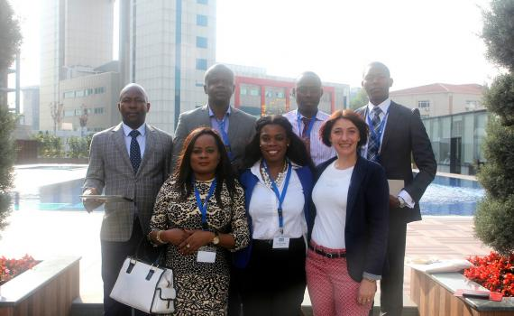 Library delegates from Angola, including Lania da Silva,Coordinator at ReMA (middle) at the 2014 EIFL General Assembly.