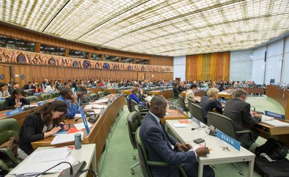 Standing Committee on Copyright and Related Rights in session at the World Intellectual Property Organization (WIPO). Photo credit: WIPO