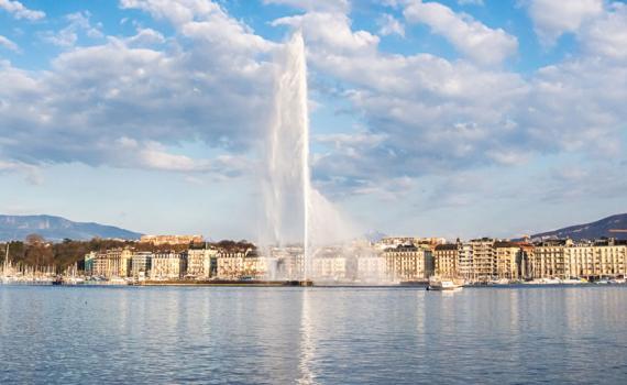 View of Geneva in Switzerland