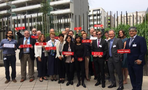 Representatives from the library, archive, museum and education sectors at SCCR/36.