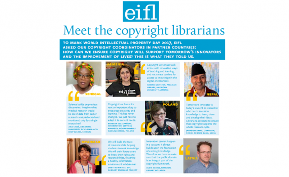 Poster with photos of librarians and quotes