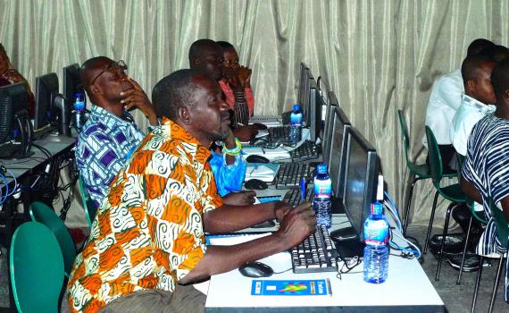 Librarians at a training workshop in Ghana.