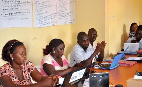 Public librarians at the training discussing the importance of non-traditional partnerships in developing new public library services.